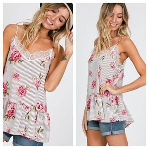 LAST ONE Zoe floral tank